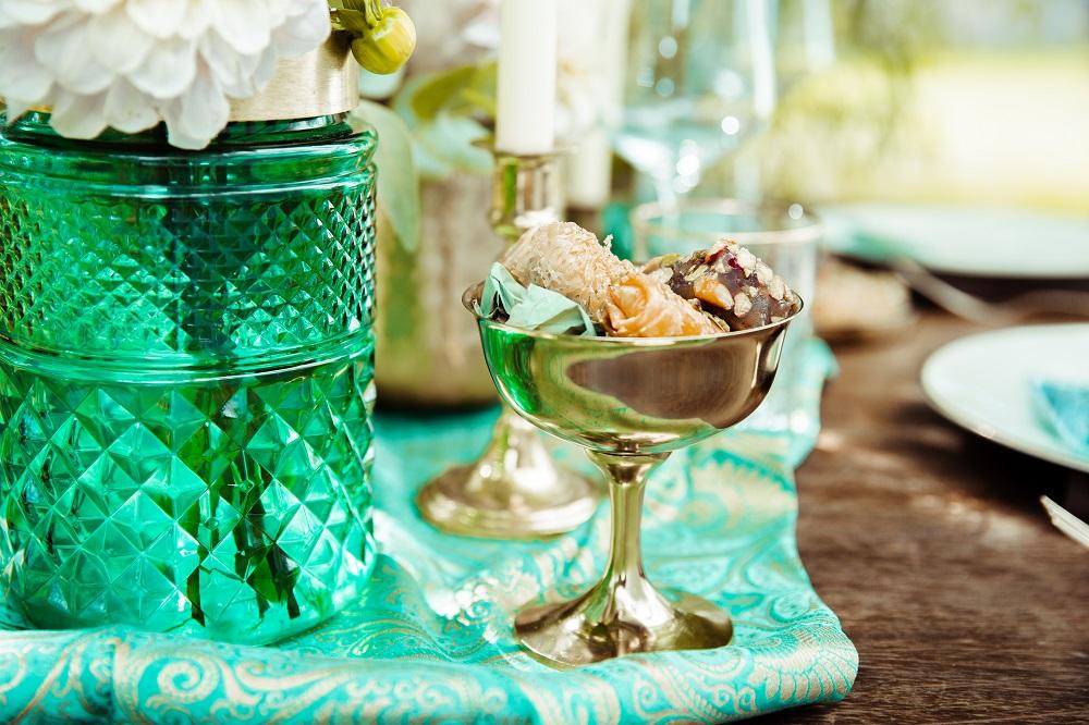 Grüne Deko Hochzeit